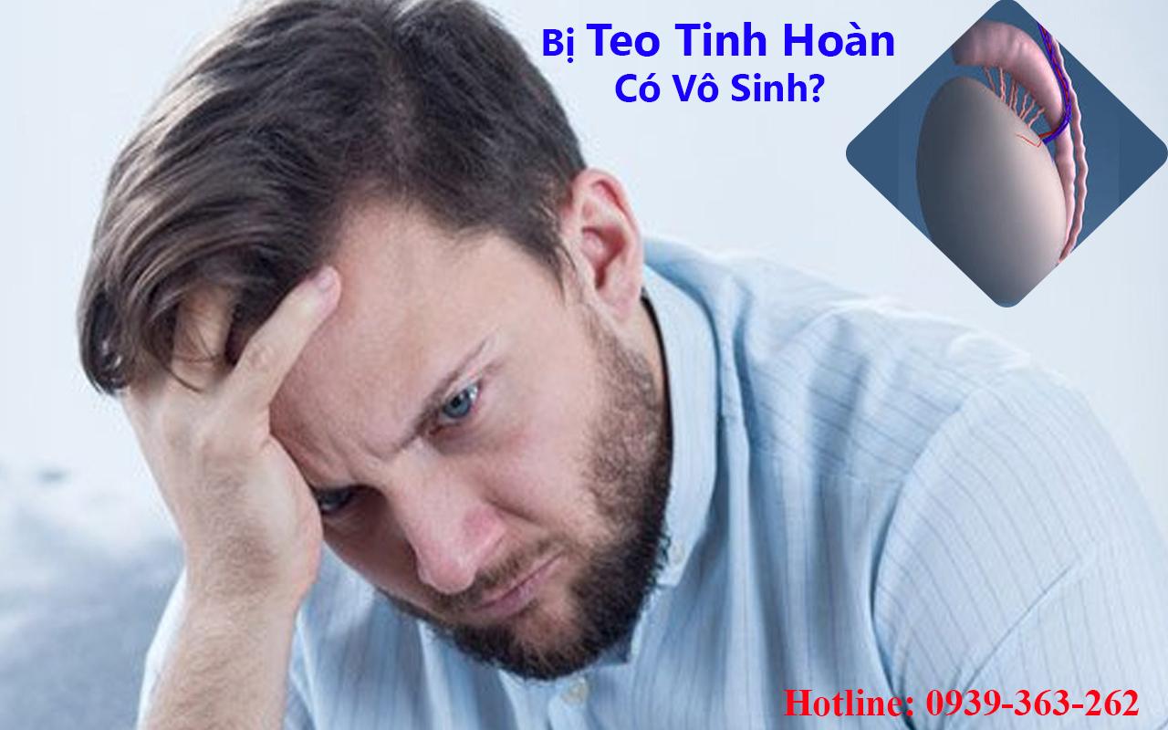 chứng teo tinh hoàn ở nam giới có gây vô sinh